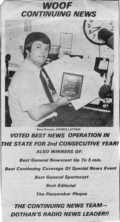 1976 WOOF Ad News Awards